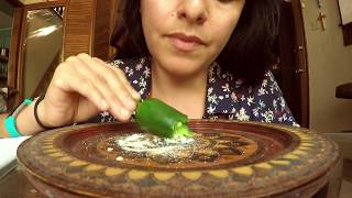 Pepper ASMR Eating Sounds and Whispers