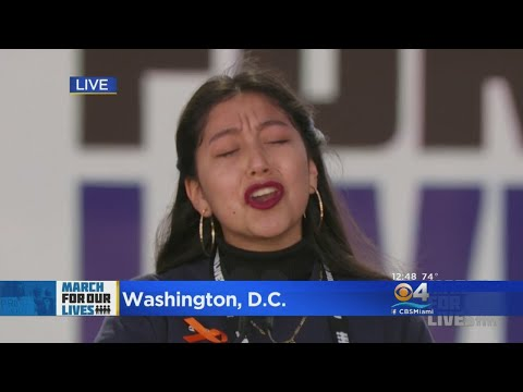Los Angeles Student Activist Shares Powerful Words In March For Our Lives