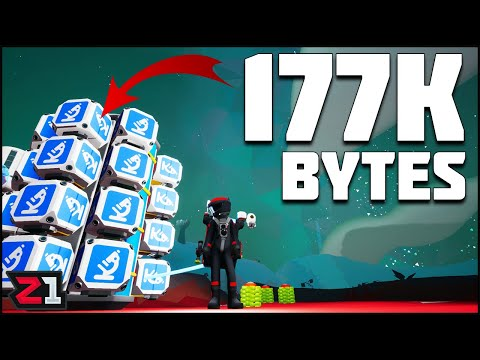 177,000 BYTES ! Collecting Bytes Fast! Astroneer Wanderer Update | Z1 Gaming