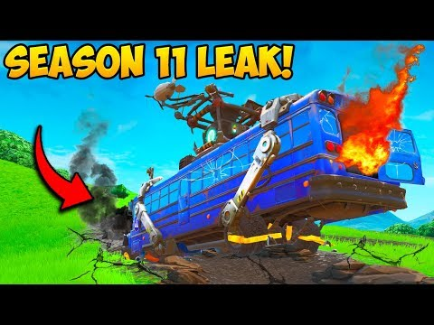 *SEASON 11 LEAK* BATTLE BUS CRASHES!! Fortnite Funny Fails And WTF Moments! #707