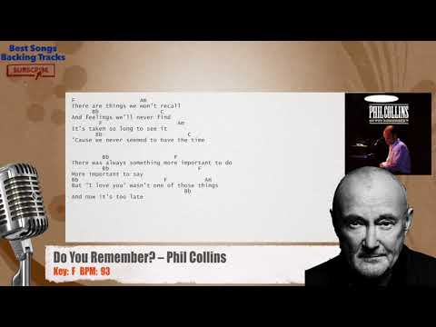 Do You Remember? – Phil Collins Vocal Backing Track with chords and lyrics