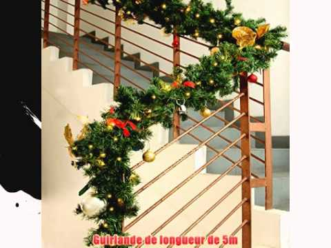 Guirlande lumineuse sapin noel int rieur ext rieur 5m for Decoration exterieur led