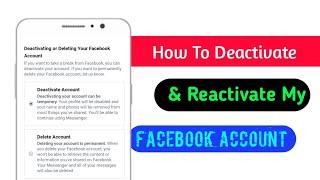 How To Deactivate Facebook Account | Bangla Tutorial 2020