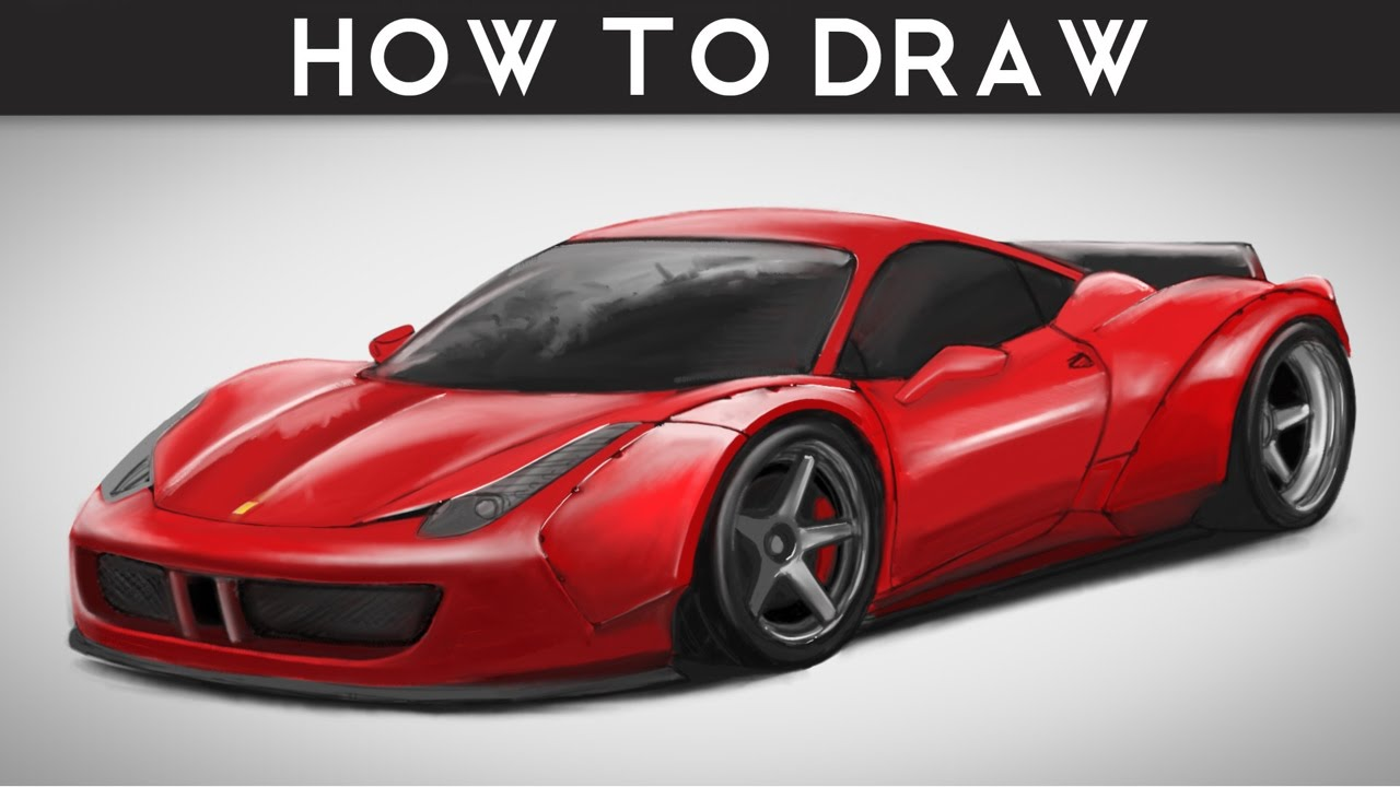 how to draw ferrari 458 italia libertywalk lb step by step drawingpat. Cars Review. Best American Auto & Cars Review