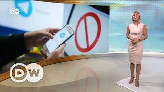 Роскомнадзор против Telegram  борьба с терроризмом или со свободой слова?   DW Новости (26 06 2017)