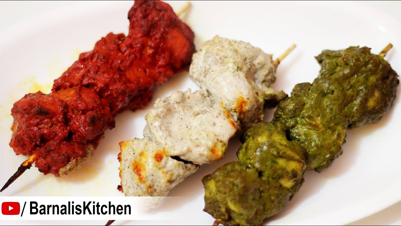Captivating 3 Easy Chicken Kabab Recipes  Chicken Tikka Kabab  Indian Nonveg Starter   Independence Day Recipe   YouTube