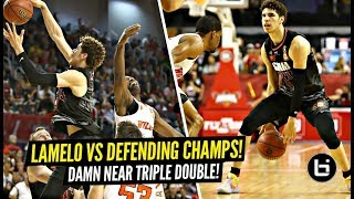 LaMelo Ball vs 6x NBL Defensive Player Of Year & Defending CHAMPS! Damn Near TRIPLE DOUBLE!!