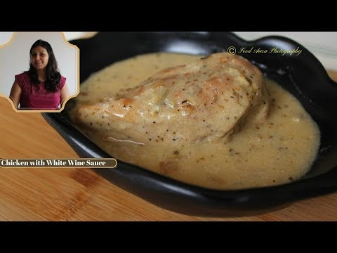 Chicken Cooked With White Wine Sauce.