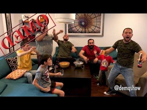 Americans Watching Super Bowl VS. Armenians Watching Super Bowl (DEMQ SHOW)