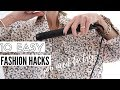 10 Fashion Hacks Every Girl Must Know - Clothing Hacks