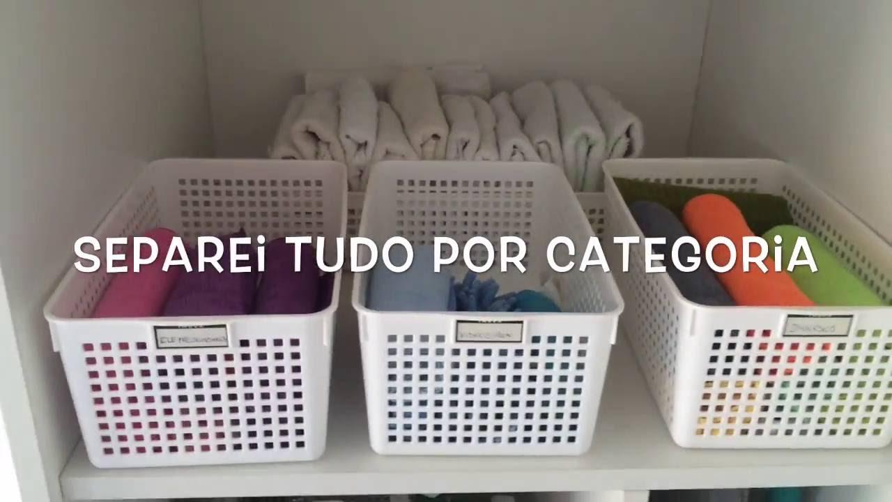 Cestos organizadores para produtos de limpeza youtube - Organizador de lavanderia ...