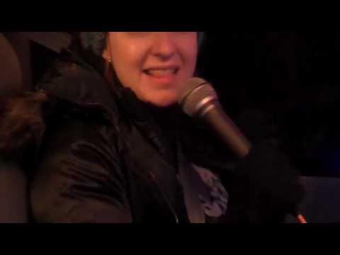 Cyan in the karaoke cab