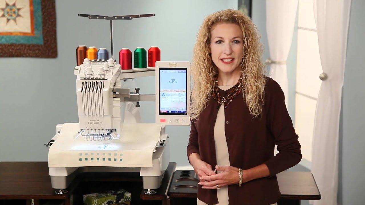 Baby Lock Endurance Embroidery Machine - YouTube