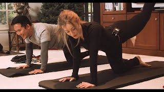 Daisy Keech Teaches a Booty Workout + Cooks $200 Truffled Roasted Chicken