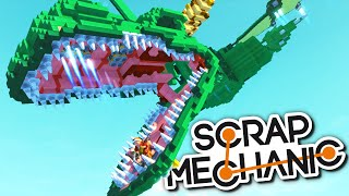 One of MrMEOLA's most viewed videos: Scrap Mechanic CREATIONS - MILLENNIUM FALCON, MASSIVE DRAGON, HOVERBIKE + MORE!