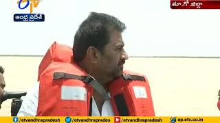 Home Minister Chinarajappa Visits Boat Accident Area at East Godavari