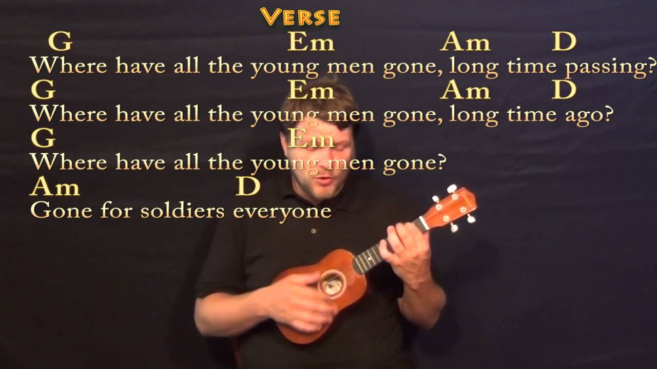 Where Have All The Flowers Gone Pete Seeger Soprano Ukulele Cover
