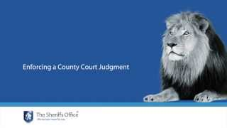 The Sheriffs Office | Enforcing a county court judgment (CCJ)