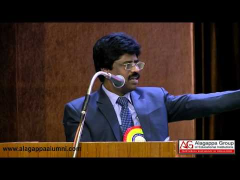 Vice Chancellor- On the Importance of AGAA | Alagappa Global Alumni Meet 2018