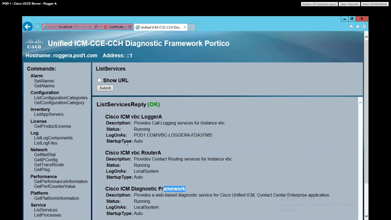 VoiceBootcamp - Cisco Training - UCCE - Lab 1 Introducing to Cisco UCCE  Troubleshooting Utilities