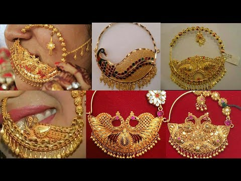 Latest Bridal Gold Nose Pin-Nathiya Designs 2018 |The Fashion Plus Collection