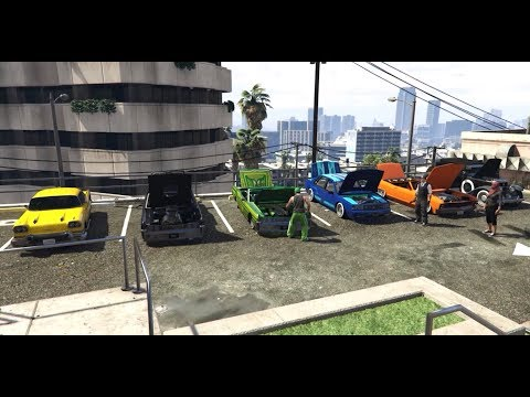 Rockstar Editor | GTA5Online - Low Riders Car Meet @ Haute Restaurant Av  Vinewood Hills