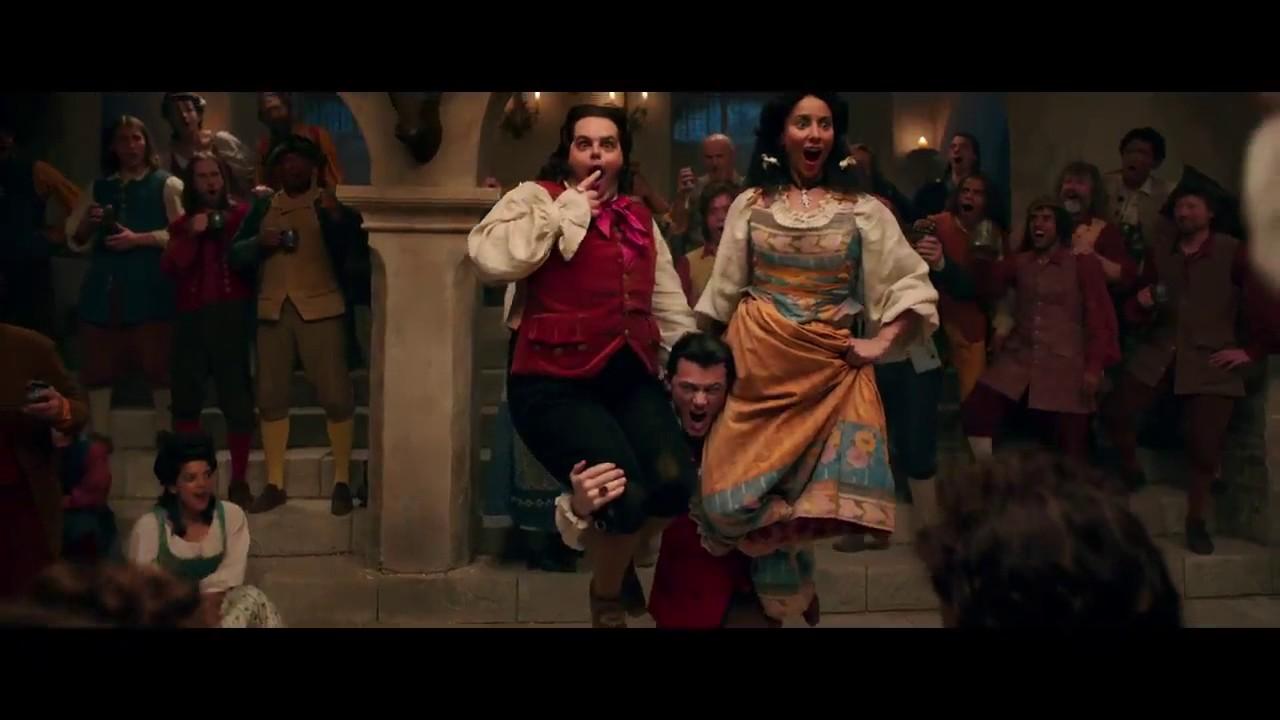Gaston The Beast And Lefou Beauty And The Beast 2017 Luke Evans Dan Stevens And Josh Gad Youtube