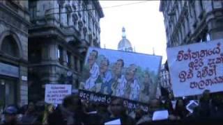 Milano massive Protest