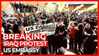 US embassy protesters in Iraq 'told to withdraw'
