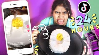 Letting My &quotFor You&quot Page Decide What I Eat For 24 Hours! **Tik Tok Food Challenge** Gone Wrong!!