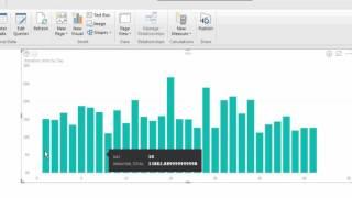 إعداد بيانات بسيطة التصور في السلطة BI