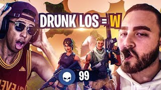 GETTING CARRIED BY DRUNK LOSPOLLOSTV! DES MOMENTS DRÔLES! Fortnite Bataille Royale