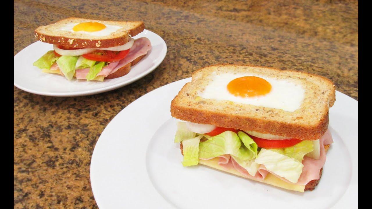 Sándwich Vegetal Con Huevo Súper Sabroso