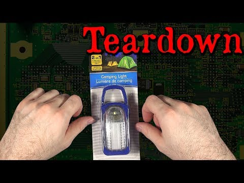 Dollar Store 2-in-1 Flashlight & Camping Light | Teardown and Tests