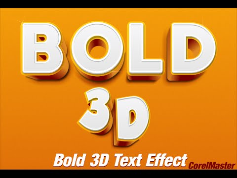 CorelDraw Tutorial: How to make Bold 3D Text Effect