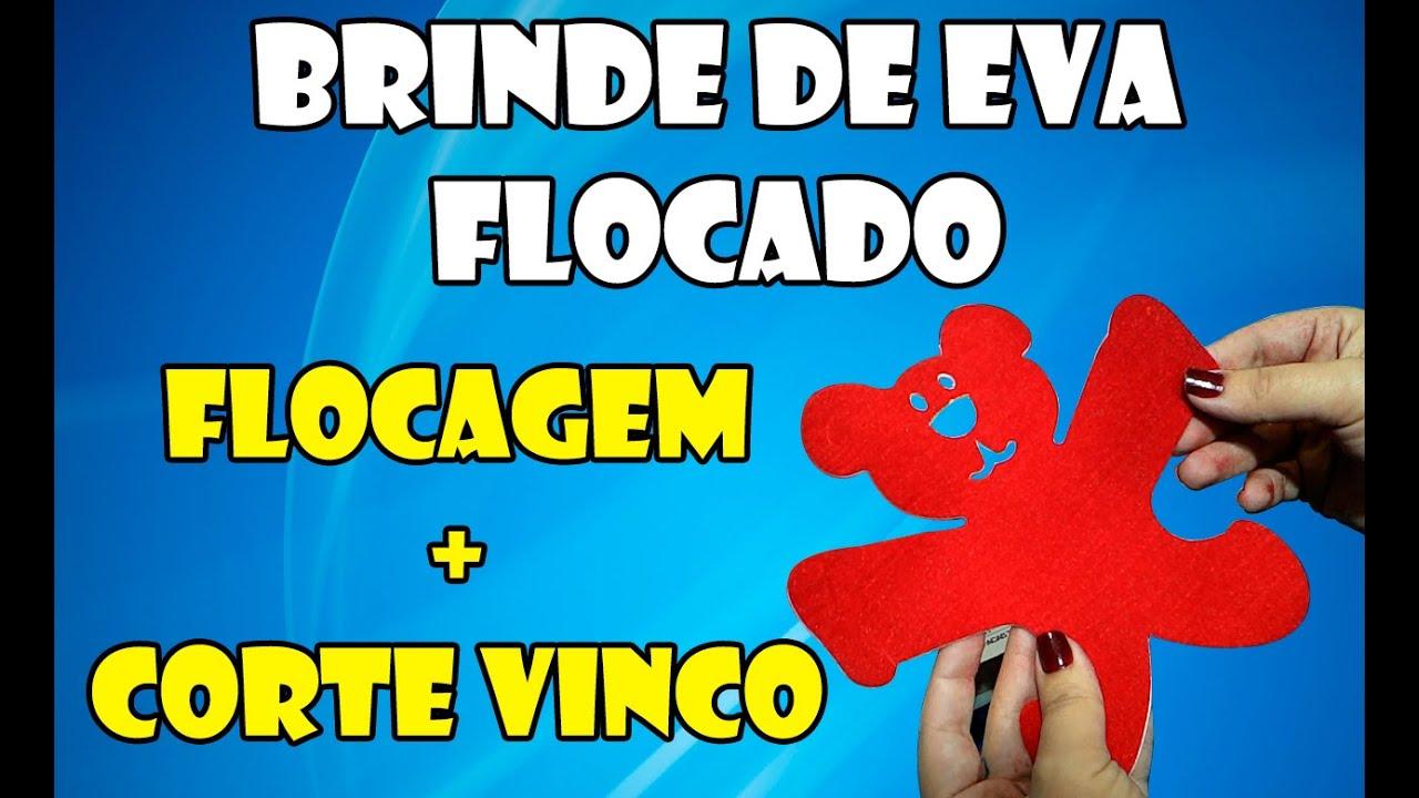 Flocagem Flock Color Confecção De Brinde Em Eva Youtube