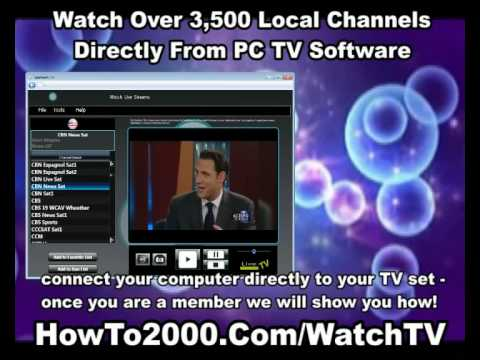 Pc Tv Software Watch Over 3500 Local Channels Youtube