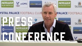 Alan Pardew pre West Ham Press Conference