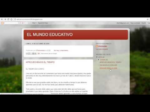 DEMOSTRACION DE MI BLOGS DE EDUCACION