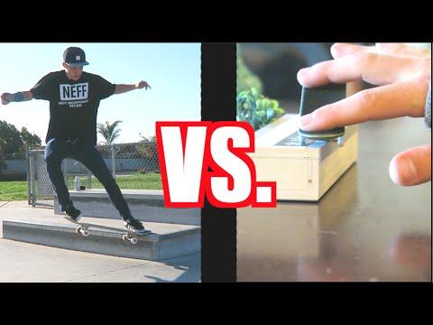Skateboarder VS. Fingerboarder   S.K.A.T.E.
