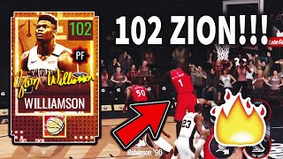 HES DUNKING ON THE WHOLE TEAM!!! 102 OVR MOBILE MADNESS ZION WILLIAMSON GAMEPLAY!!! NBA LIVE MOBILE