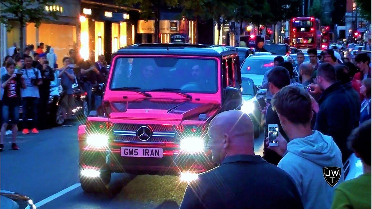Chrome Red Mercedes Brabus G63 Amg In London Is Too Loud