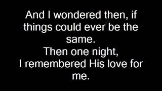 When God Ran [with lyrics] - Craig Philips