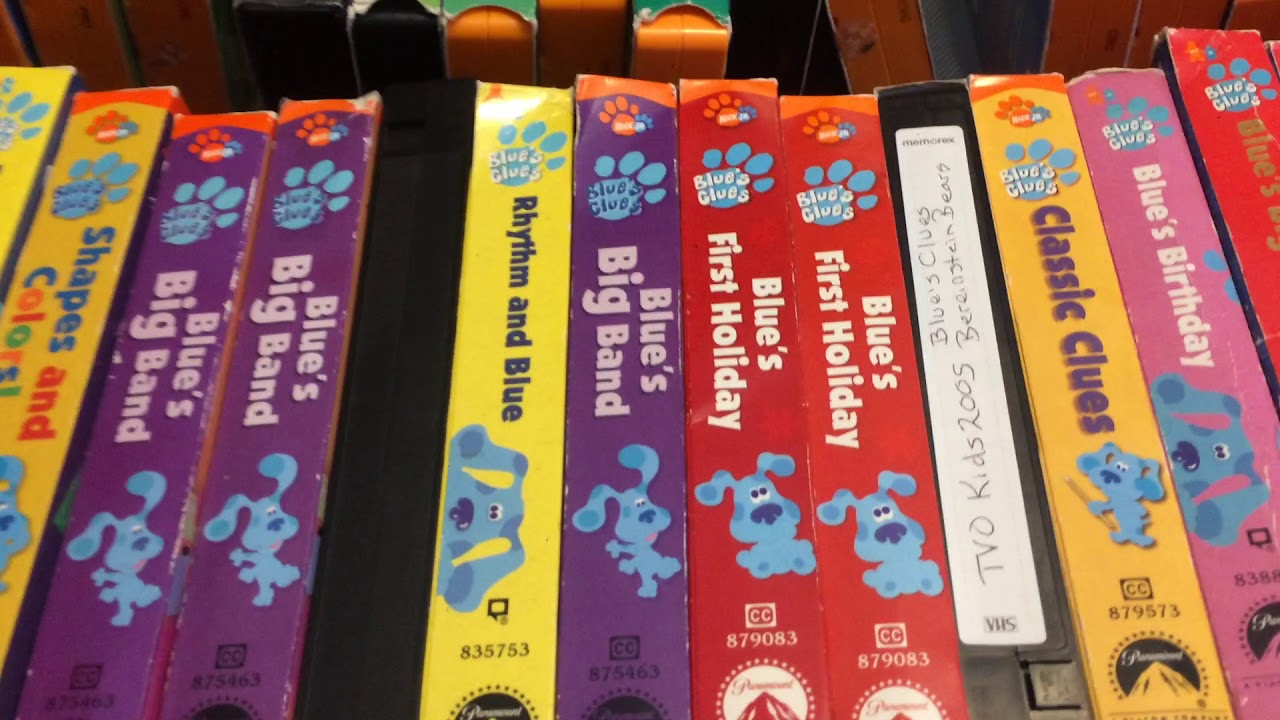 my blues clues vhs dvd collection youtube