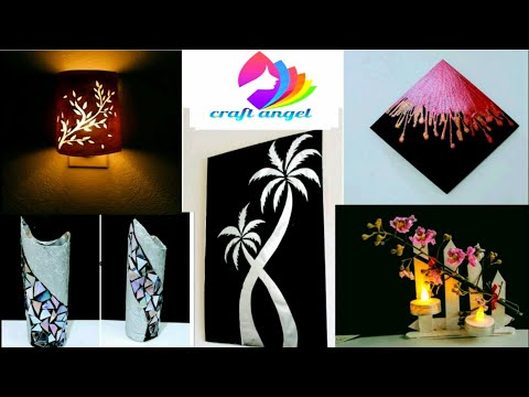 5 wall decor ideas / craft / art and craft / waste material craft/diy project/ video /amazing pixies