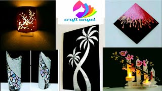craft items /recycled art craft/ art and craft / waste material craft/do it yourself /amazing pixies