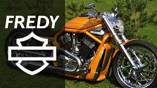 harley davidson v rod orange by fredy   motorcycle muscle custom review