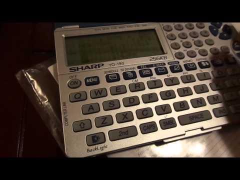 Sharp YO-190 256k Personal Organizer