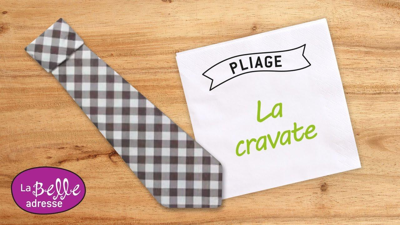 Pliage De Serviette En Papier En Forme De Cravate Labelleadresse