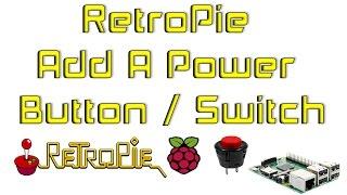 RetroPie Voeg Een Power-Toets / Schakelaar Raspberry Pi 1 2 3